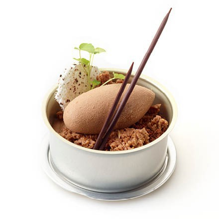 Tapa dessert met Frozen Elements