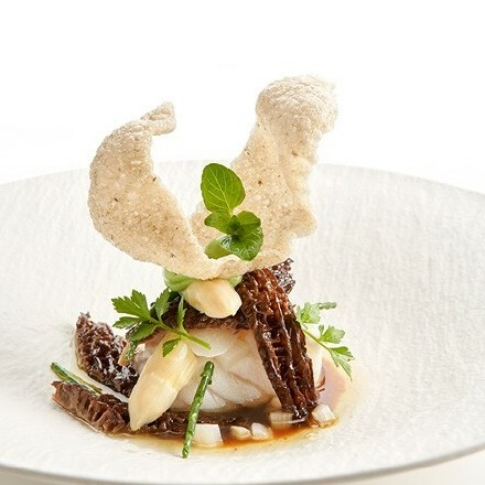 White of cod with Cracker Truffle