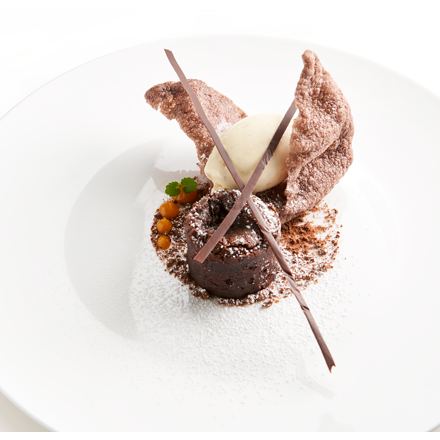 Moelleux of chocolate with Cracker Chocolate
